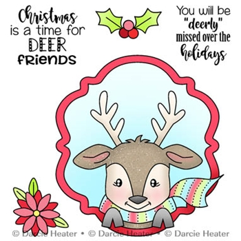 Darcie's DEER FRIENDS Clear Stamp Set pol450