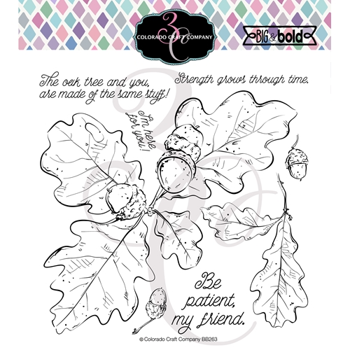 Colorado Craft Company Big and Bold OAK LEAVES AND ACORNS Clear Stamps BB263 Preview Image