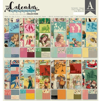 Authentique CALENDAR IMAGES 12 x 12 Paper Pad cal061