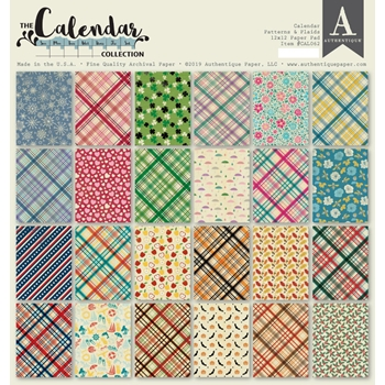 Authentique CALENDAR PATTERNS 12 x 12 Paper Pad cal062