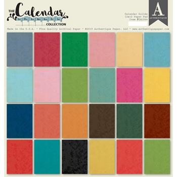 Authentique CALENDAR SOLIDS 12 x 12 Paper Pad cal064
