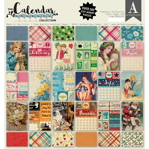 Authentique CALENDAR COMPLETE 12 x 12 Paper Pad cal065 Preview Image