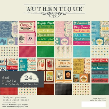 Authentique 6 x 6 CALENDAR Paper Pad cal066