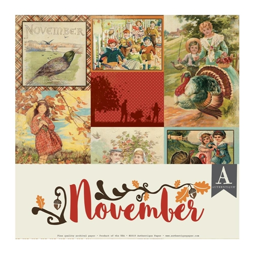 Authentique NOVEMBER 12 x 12 Paper Pack cal059 Preview Image
