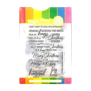 Waffle Flower HOLIDAY HUGS Clear Stamp and Die Combo WFC281