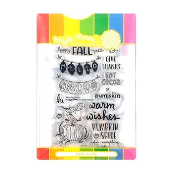 Waffle Flower FALL GREETINGS Clear Stamp and Die Combo WFC276