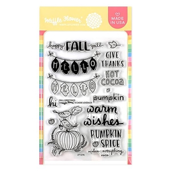 Waffle Flower FALL GREETINGS Clear Stamps 271276