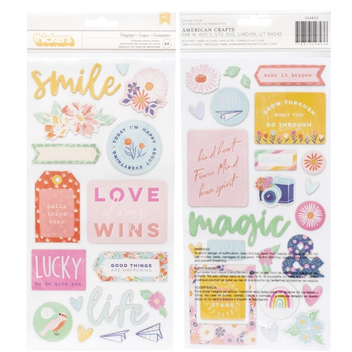 American Crafts Dear Lizzy DELIGHTFUL Chipboard Phrase Stickers She's Magic 354823 Preview Image