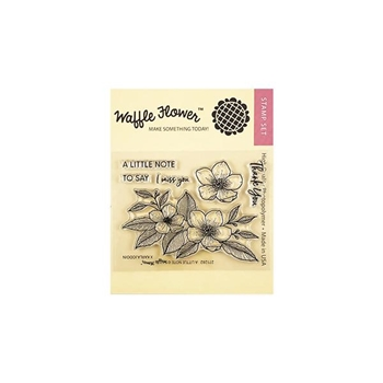 Waffle Flower A LITTLE NOTE Clear Stamps 271282