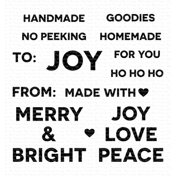 My Favorite Things HOLIDAY TAG TALK Clear Stamps CS423