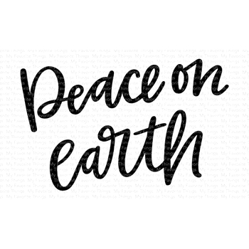 My Favorite Things PEACE ON EARTH Clear Stamps CS427