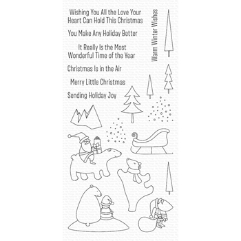 My Favorite Things MERRY MOMENTS Clear Stamps CS429*
