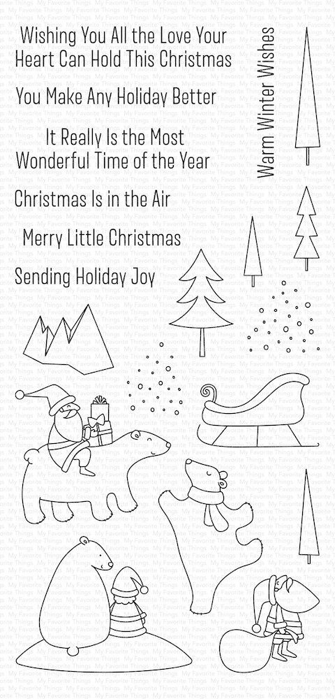 My Favorite Things MERRY MOMENTS Clear Stamps CS429 zoom image