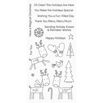 My Favorite Things REINDEER GAMES Clear Stamps CS428
