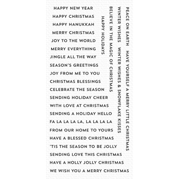 My Favorite Things BITTY HOLIDAY WISHES Clear Stamps CS417