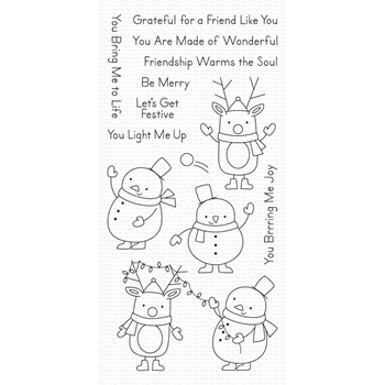 My Favorite Things FESTIVE FRIENDS Clear Stamps CS430