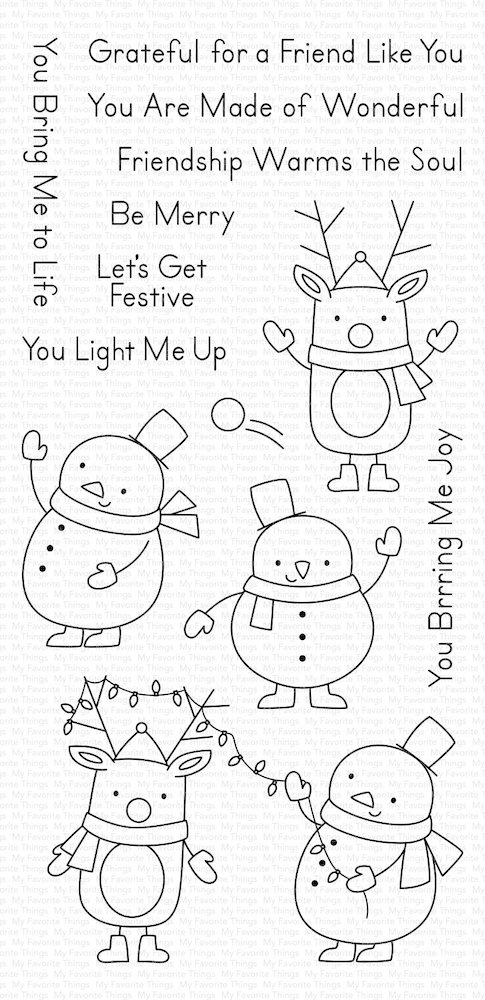 My Favorite Things FESTIVE FRIENDS Clear Stamps CS430 zoom image