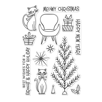 Hero Arts Clear Stamps MEOWY CHRISTMAS CM402