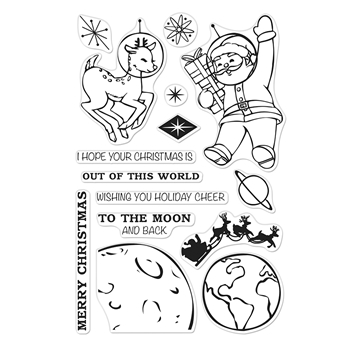 Hero Arts Clear Stamps OUT OF THIS WORLD CHRISTMAS CM400