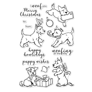 Hero Arts Clear Stamps MERRY WOOF CM398