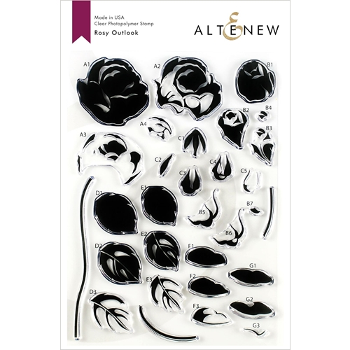 Altenew ROSY OUTLOOK Clear Stamps ALT3551 Preview Image