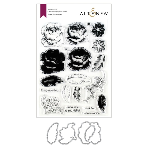 Altenew ROSE BLOSSOM Clear Stamp and Die Bundle ALT3550 Preview Image