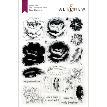 Altenew ROSE BLOSSOM Clear Stamps ALT3175