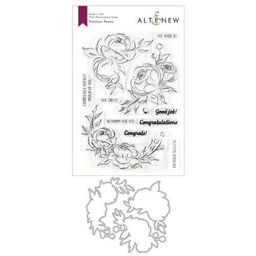 Altenew PRECIOUS PEONY Clear Stamp and Die Bundle ALT3548 Preview Image