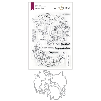 Altenew PRECIOUS PEONY Clear Stamp and Die Bundle ALT3548