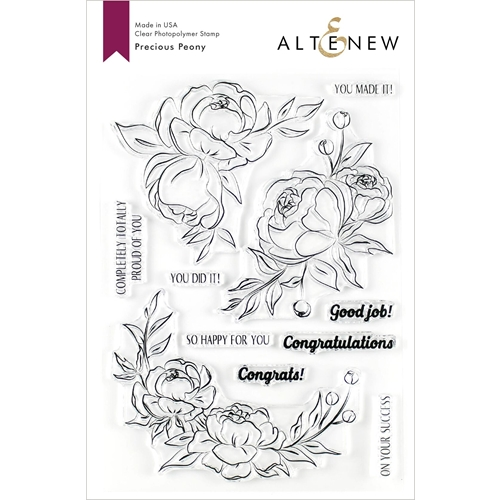 Altenew PRECIOUS PEONY Clear Stamps ALT3546 Preview Image