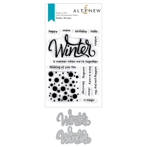 Altenew HELLO WINTER Clear Stamp and Die Bundle ALT3545 Preview Image
