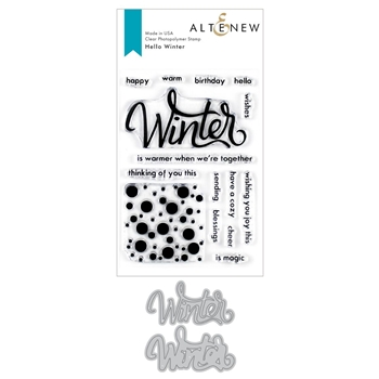 Altenew HELLO WINTER Clear Stamp and Die Bundle ALT3545