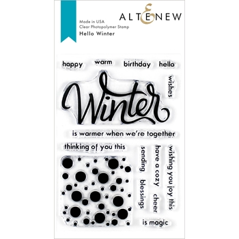 Altenew HELLO WINTER Clear Stamps ALT3543