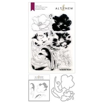 Altenew GRATEFUL HEART Stamp, Die and Masked Stencil Bundle ALT3542
