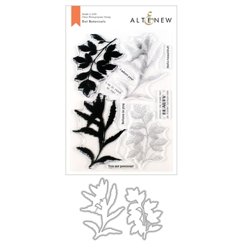Altenew DOT BOTANICALS Clear Stamp and Die Bundle ALT3537