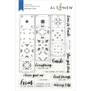 Altenew DELICATE TILES Clear Stamps ALT3534