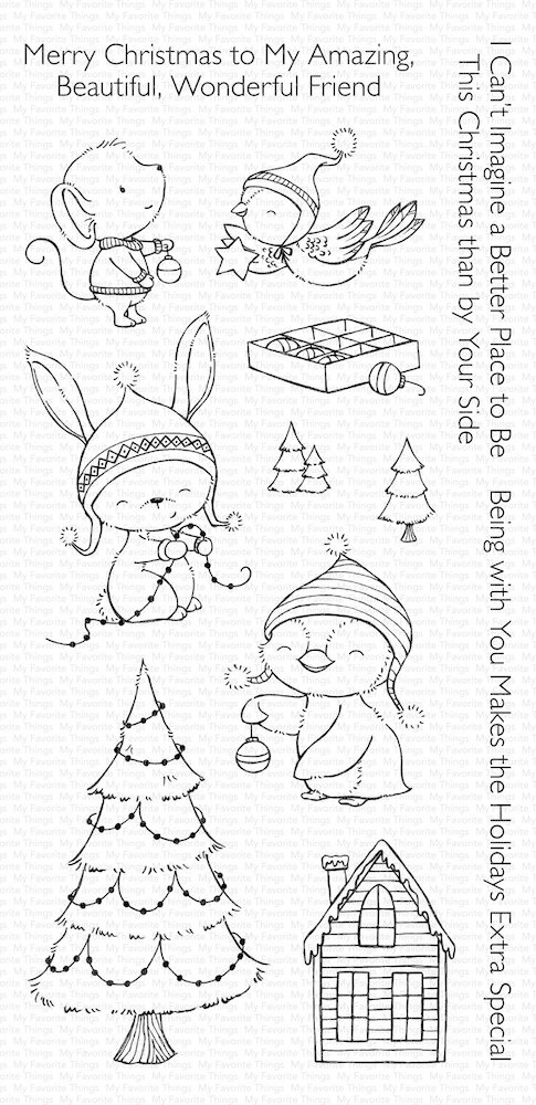 My Favorite Things MERRY WISHES Clear Stamps SY14 zoom image