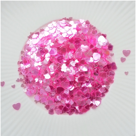 Little Things From Lucy's Cards Sprinkles SCATTERED HEARTS PINK LB294 zoom image