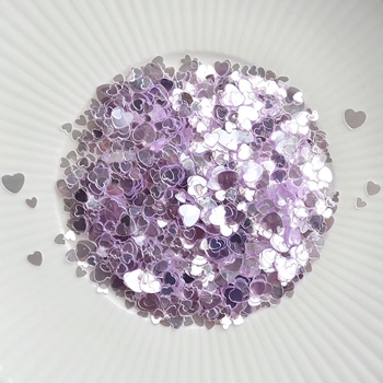Little Things From Lucy's Cards Sprinkles SCATTERED HEARTS PURPLE LB297