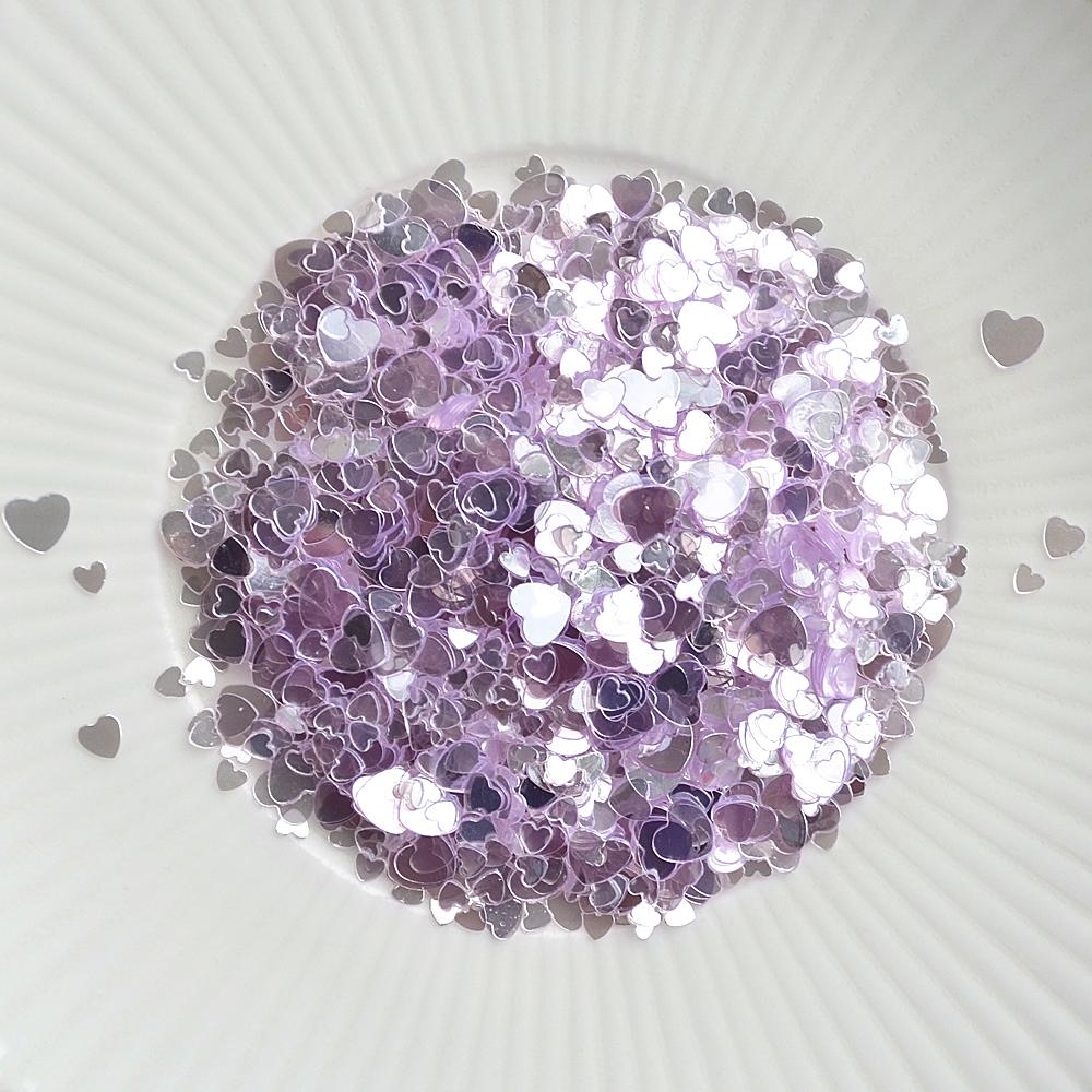 Little Things From Lucy's Cards Sprinkles SCATTERED HEARTS PURPLE LB297 zoom image
