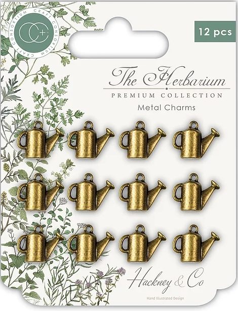 Craft Consortium THE HERBARIUM WATERING CAN Metal Charms CCMCHRM006 zoom image