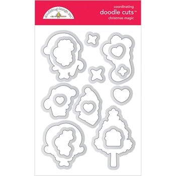 Doodlebug CHRISTMAS MAGIC Doodle Cuts 6478