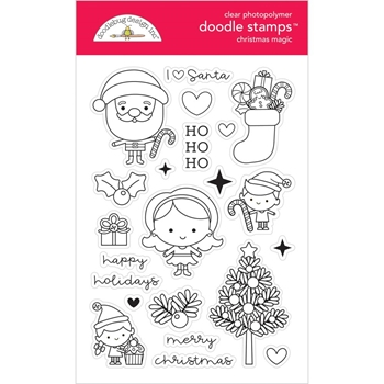 Doodlebug CHRISTMAS MAGIC Doodle Stamps 6477