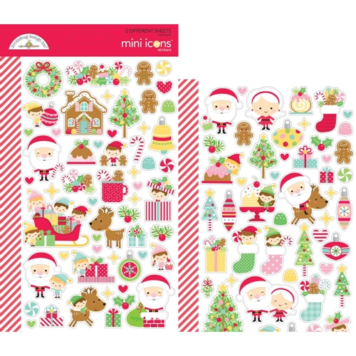 Doodlebug CHRISTMAS MAGIC Mini Icons Cardstock Stickers 6471 Preview Image