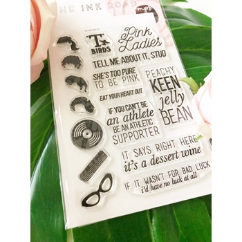 The Ink Road EAT YOUR HEART OUT Clear Stamp Set inkr117