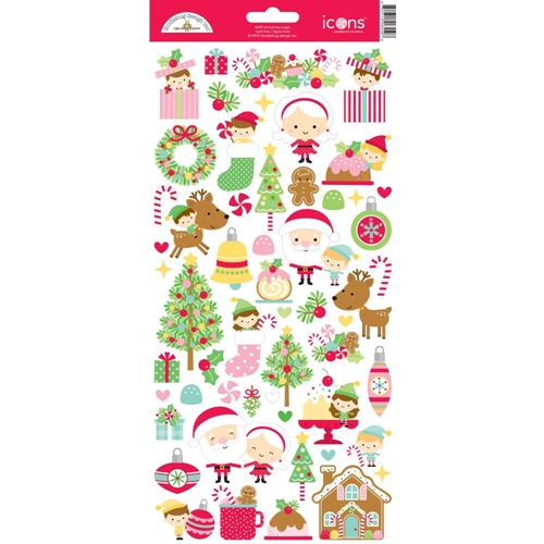 Doodlebug CHRISTMAS MAGIC ICONS Cardstock Stickers 6559 Preview Image