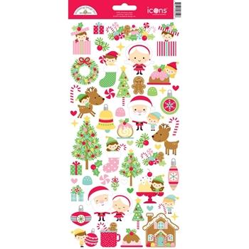 Doodlebug CHRISTMAS MAGIC ICONS Cardstock Stickers 6559