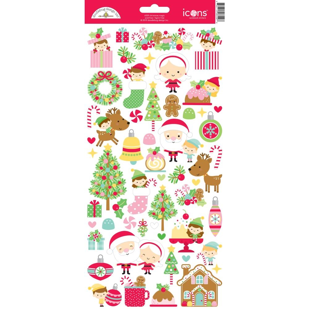 Doodlebug CHRISTMAS MAGIC ICONS Cardstock Stickers 6559 zoom image