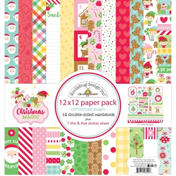 Doodlebug CHRISTMAS MAGIC 12x12 Inch Paper Pack 6540