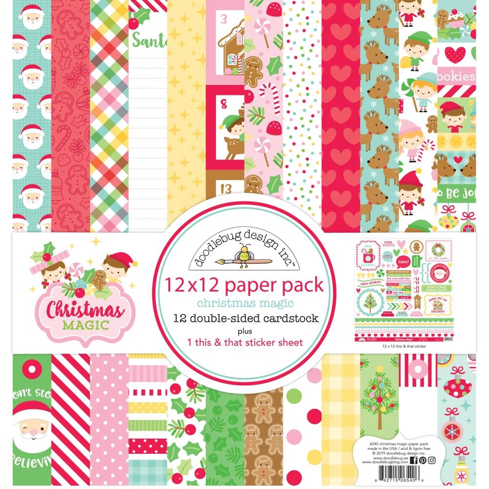 Doodlebug CHRISTMAS MAGIC 12x12 Inch Paper Pack 6540 zoom image